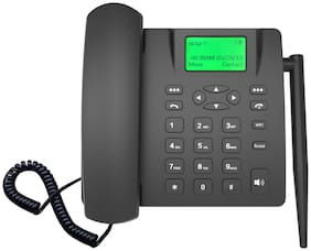 Wi Bridge 4G102 Single Sim Corded Landline Phone ( Black )