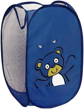 Winner Nylon Blue Laundry Basket ( Set of 1 )