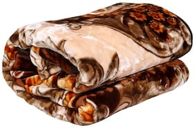 Winter Soft Single Bed Mink Floral Blanket Reveresible Blanket