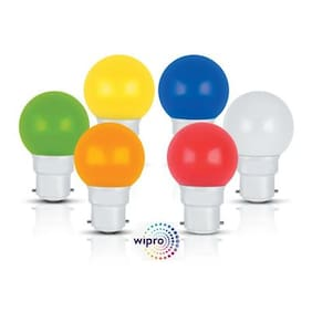 Wipro 0.5 Watt B22 LED Bulb (Pack of 6)