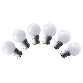 Wipro 0.5 Watt White LED Deco Bulb (Pack Of 6)