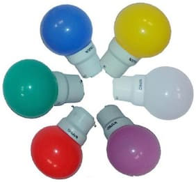 Wipro 0.5W LED Bulb (Assorted Colours) - 1 Pc
