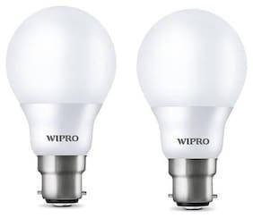 Wipro 12 W Standard B22 LED Bulb (Yellow;Pack of 2)