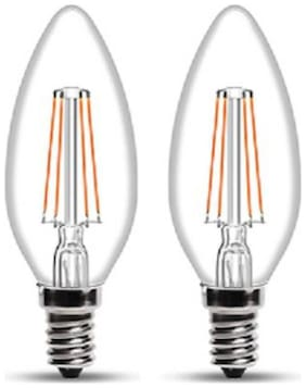 Wipro 4 W Candle E14 LED Bulb  (Yellow, Pack of 2)