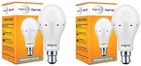 Wipro 9W Inverter Emergency LED Bulb 6500K Cool Day Light - Pack of 2