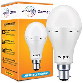 Wipro 9W Inverter Emergency LED Bulb 6500K Cool Day Light - Pack of 1