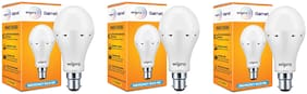 Wipro 9W Inverter Emergency LED Bulb 6500K Cool Day Light - Pack of 3