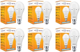 Wipro 9W Inverter Emergency LED Bulb 6500K Cool Day Light - Pack of 6