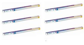Wipro Garnet 22W 4 Ft. LED 3-in-1 Tubelight Batten Colour Changing (Cool Day Light/Neutral White/Warm White) - Pack of 6