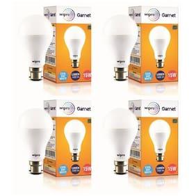Wipro Garnet 15W LED Bulb-Pack of 4