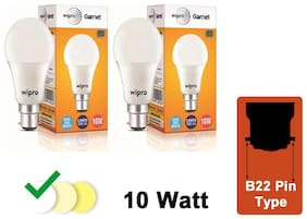Wipro Garnet 10W LED Bulb 6500K (Cool Day Light) - Pack of 2