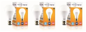 Wipro Garnet 15 Watt B22 LED Bulb (Pack of 3)