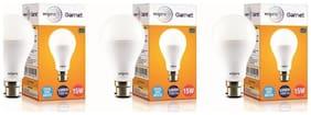 Wipro Garnet 15 Watt B22 LED Bulb (Pack of 3)