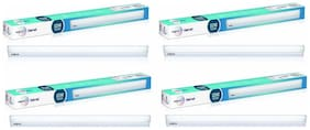 Wipro Garnet 10-W LED Batten (Pack of 4, Cool Day Light)
