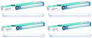 Wipro Garnet 10-W LED Batten (Pack of 4, Cool Day Light)