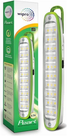 Wipro Pearl 3-Watt Rechargeable Emergency LED Lantern (Green)