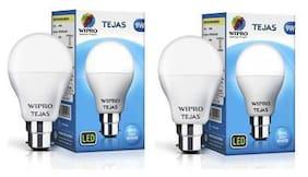 Wipro Tejas 9 Watt B22 LED Bulb,Cool Day Light (Pack of 2)