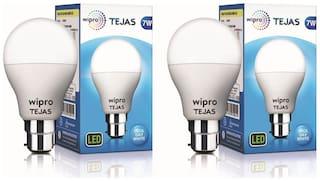 Wipro Tejas 7 Watt B22 LED Bulb,Cool Day Light (Pack of 2)