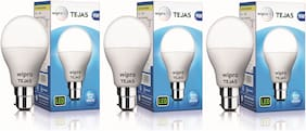 Wipro Tejas 9 Watt B22 LED Bulb (Pack of 3)
