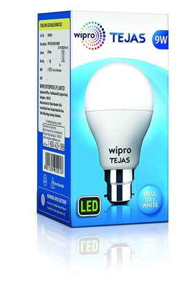 Pack of 3 Wipro Tejas 9W LED Bulb Cool Day Light 6500K