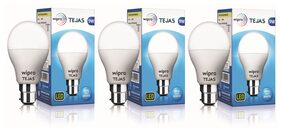 Wipro Tejas 9 Watt B22 LED Bulb, Cool Daylight (Pack of 3)