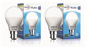 Wipro Tejas 5 Watt B22 LED Bulb,Cool Day Light (Pack of 2)