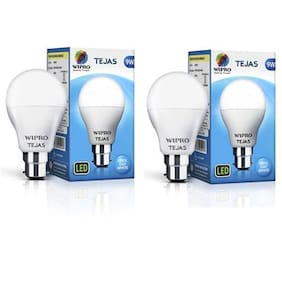 Wipro Tejas 9 Watt B22 LED Bulb Cool Day Light (Pack of 2)