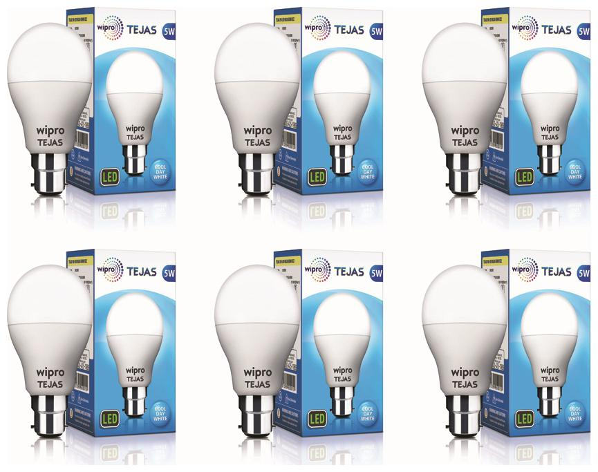 Wipro Tejas 5W LED Bulb   Pack of 6