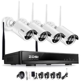 ZOSI 8CH 1080P Wireless Security Cameras System with Hard Drive 1TB 4pcs Camera