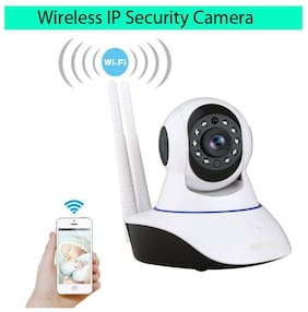 Wireless HD IP WiFi CCTV Camera for Home/Office Security, 128 GB SD Card Supported, 360 Degree View, Night Vision