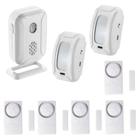 Wireless Home Alarm PIR Motion Sensor System Infrared Detector Kit W/2 RECEIVERS