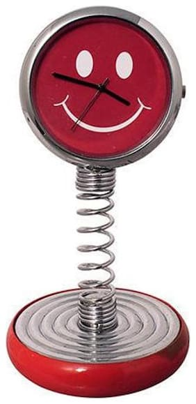 WOMS Steel Analog Table clock ( Set of 1 )