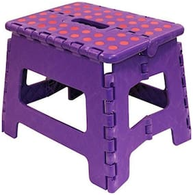 WOMS Foldable Step Stool For Kids Adults, Kitchen Garden Bathroom Stepping Stool (Assorted Colors and Design)