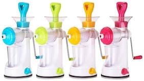 WOMS Fruit And Vegetable Juicer With Steel Handle and Manual Juicer Mixer Grinder With Steel Handle Polypropylene Hand Juicer (Multicolor)