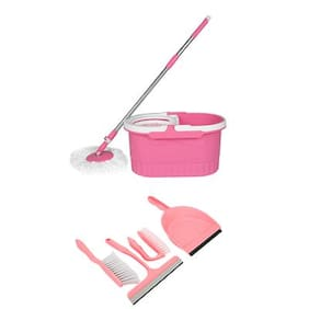 Wonder Spin Mop with 4 pc Home Cleaning kit