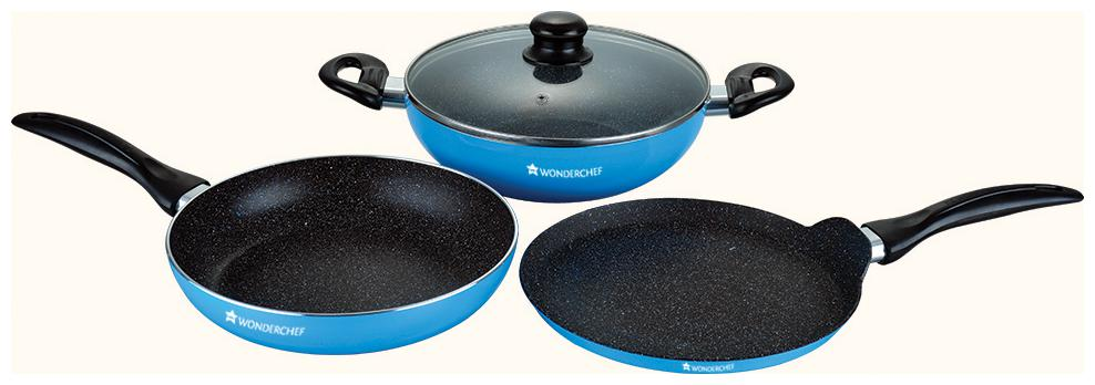Wonderchef Athena Cookware Set  Blue