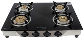 Wonderchef ENERGY 4 Burners Stainless Steel Gas Stove - Black