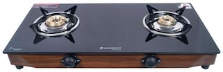 Wonderchef Eco star 2 Burner Regular Black Gas Stove ,