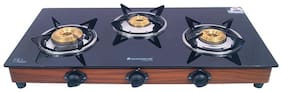 Wonderchef 3 Burners Gas Stove - Black