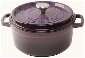 Wonderchef Ferro Cast-Iron - Casserole with Lid 22cm (Purple)