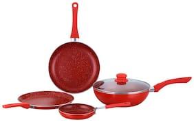 Wonderchef Royal Velvet Red Set of 4Pcs - Induction Base Cookware Set