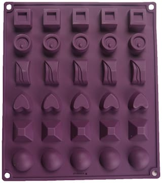 Wonderchef Silicone Purple Chocolate Mould