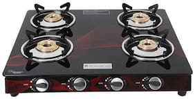Wonderchef 4 Burners Gas Stove - Black