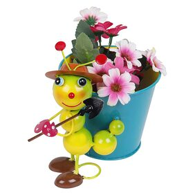 Wonderland table top flower pot Small Caterpillar with Pot