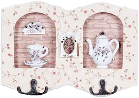 Wonderland Wall Hanger with two hooks, Wall Hooks, Wall Hanger, Clothes hanger, key hanger, wall d cor, home decoration, organiser - Teapot Cup