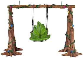 Wonderlnad Miniature fairy garden Leaf swing