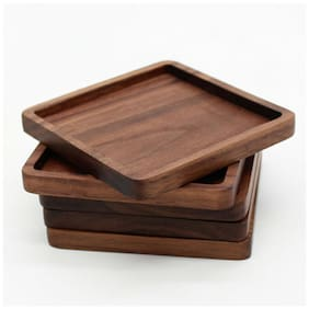 Wooden Heat Insulation Placemat Tea Coasters Holder Mat Pads for Coffee Drinks