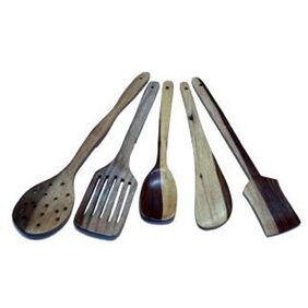 Wooden Kitchen Tool Set (5 Pieces)