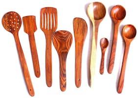 Wooden Ladle set of 9