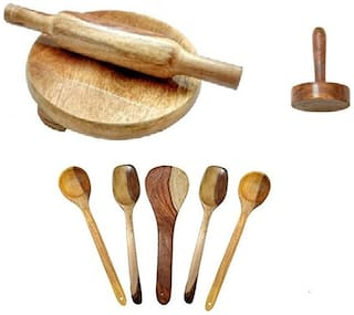 wooden skimmers set with chkla belan and masher